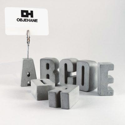 Beton Notluk (harf) - Ürün tasarımı - Somut